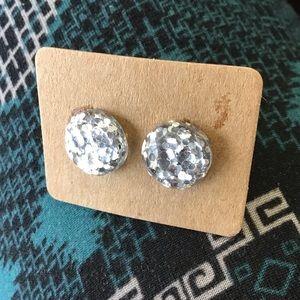 Silver studded Earrings!